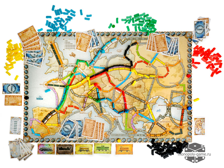 Ticket To Ride Europe Across The Board Game Cafe