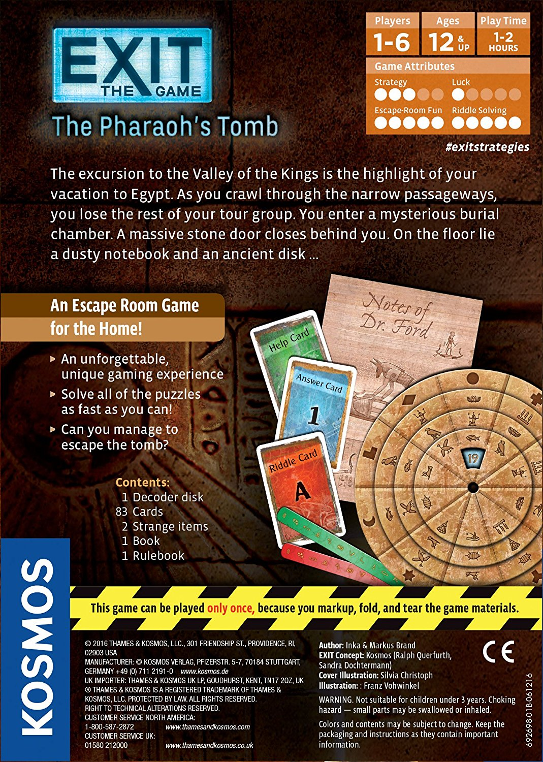 Exit The Game The Pharaoh S Tomb Across The Board