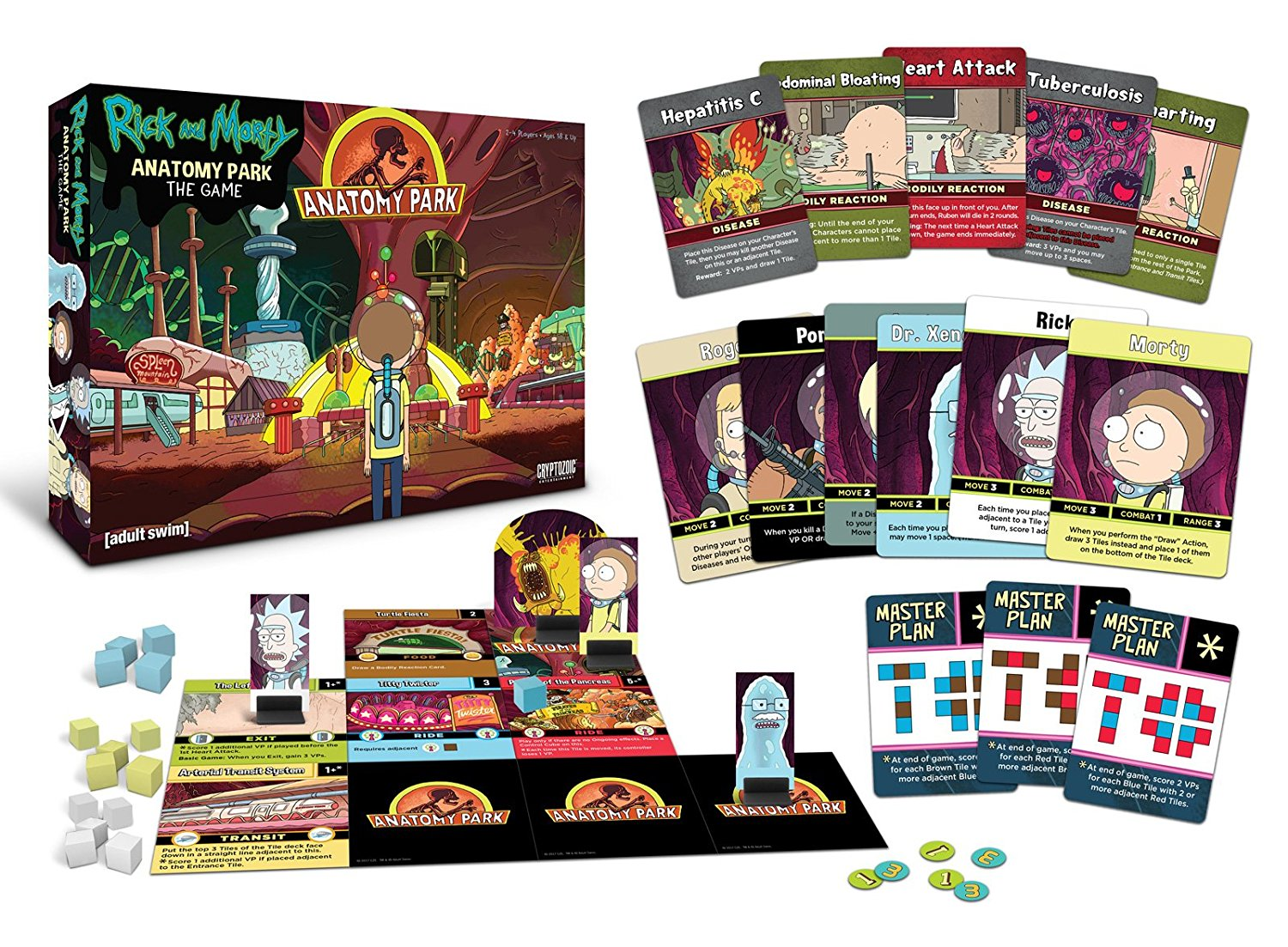 Rick And Morty Anatomy Park Across The Board Game Cafe
